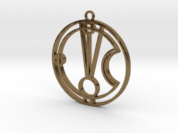 Mattie - Necklace in Polished Bronze
