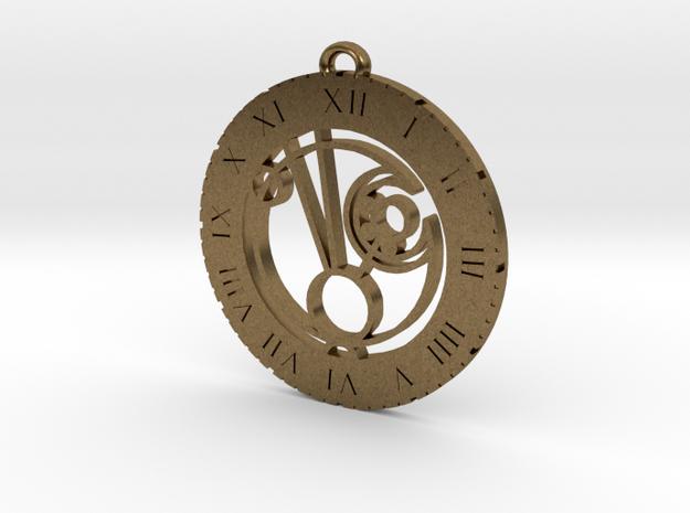 Maddie - Pendant in Raw Bronze