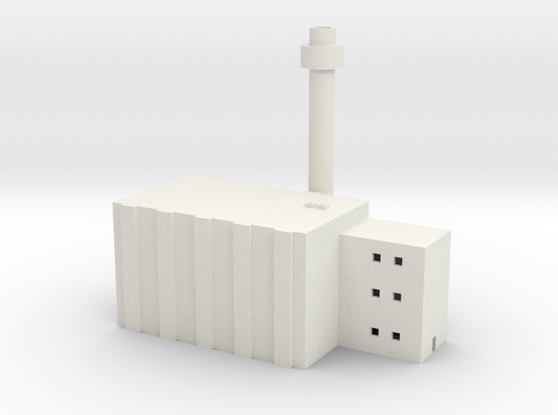 1/600 Nuclear Facility in White Natural Versatile Plastic