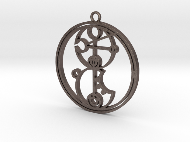 Kira-leigh - Necklace in Polished Bronzed Silver Steel