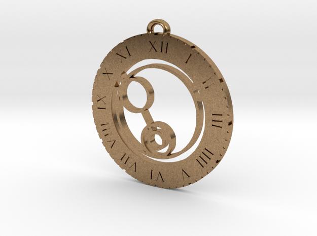 Kiana - Pendant in Raw Brass