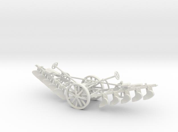 1005-2 Plough 1:43.5 O Scale in White Natural Versatile Plastic