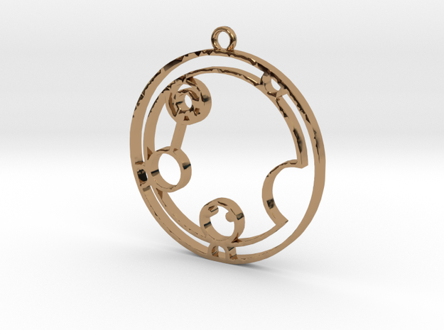 Katalina - Necklace in Polished Brass