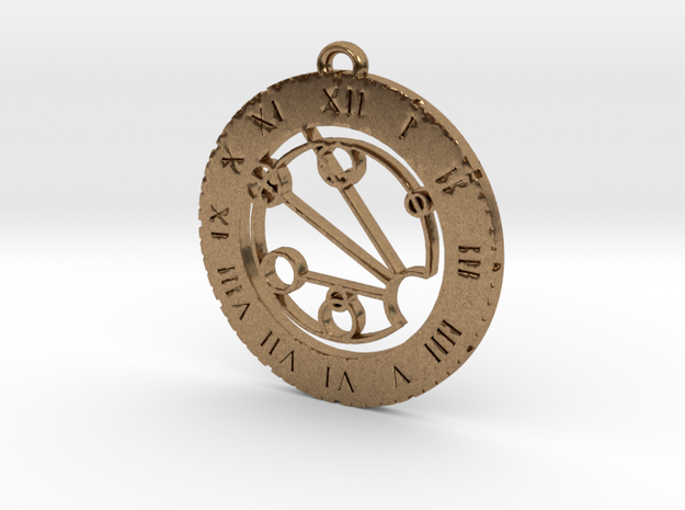 Jocelyn - Pendant in Raw Brass