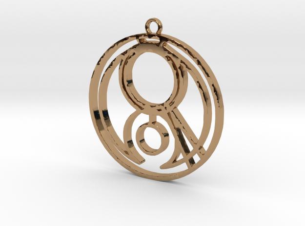 Gemma - Necklace in Polished Brass
