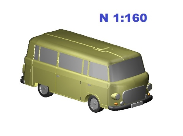 Barkas (N, 1:160) in Smooth Fine Detail Plastic