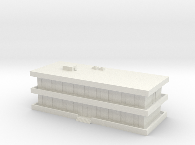 1/600 Barracks in White Natural Versatile Plastic