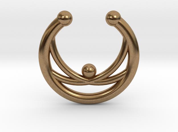 Faux Septum Ring - crisscross in Natural Brass