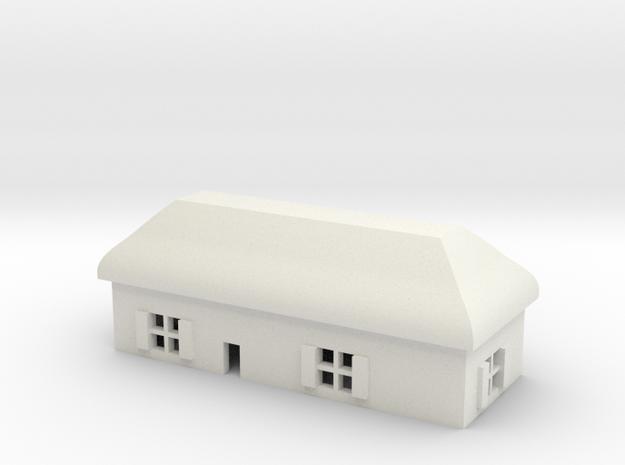 1/600 Village House 6 in White Natural Versatile Plastic