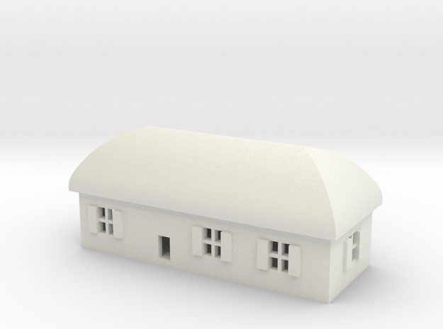 1/600 Village House 1 in White Strong & Flexible