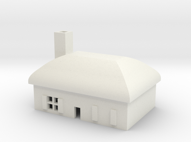 1/600 Village House 4 in White Strong & Flexible