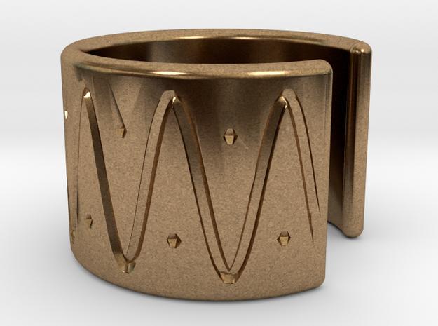 Ear Cuff - wave in Natural Brass