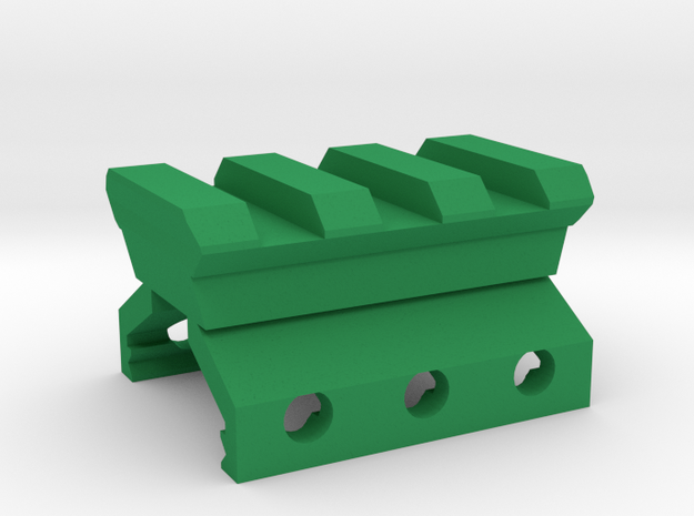 Weaver to Picatinny Adapter in Green Strong & Flexible Polished