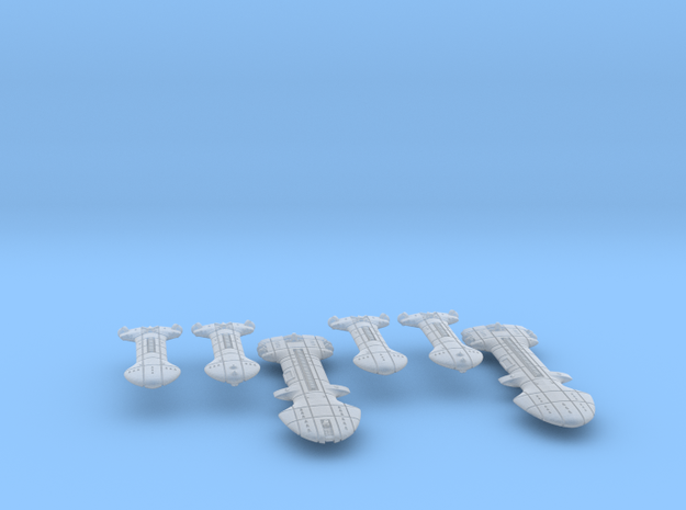 Rigellian (RPSA) Cruiser Squadron in Smooth Fine Detail Plastic