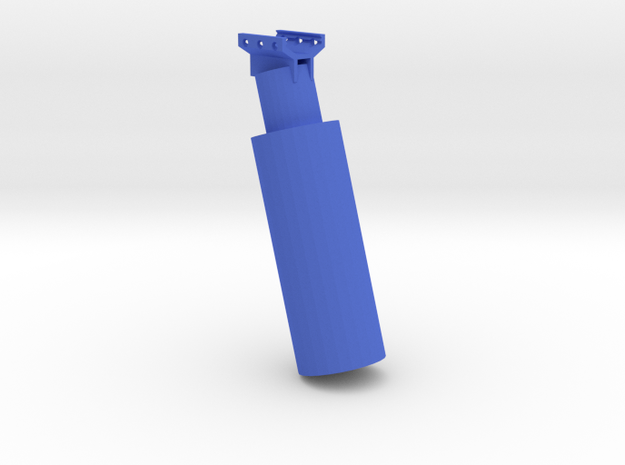 Grenade Canister Foregrip in Blue Processed Versatile Plastic