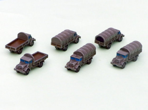 German Ford G 398 3to Truck 1/285 6mm in Smooth Fine Detail Plastic