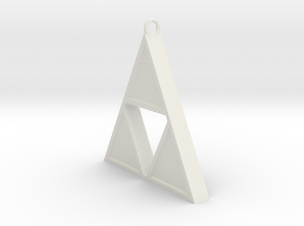 Triforce Pendant in White Strong & Flexible