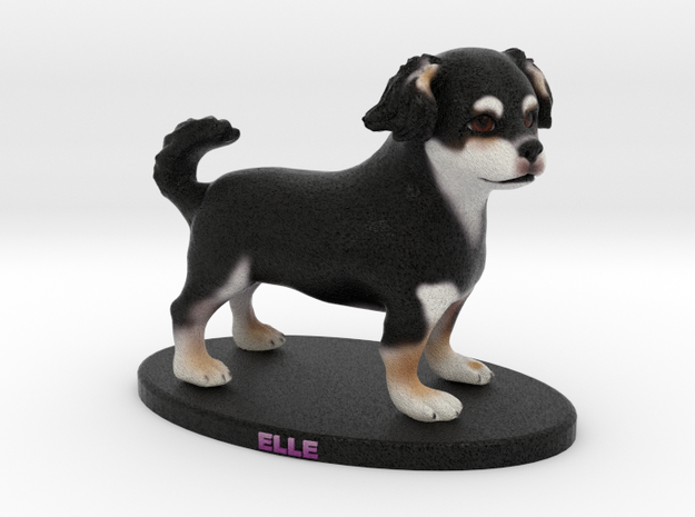 Custom Dog Figurine - Elle in Full Color Sandstone