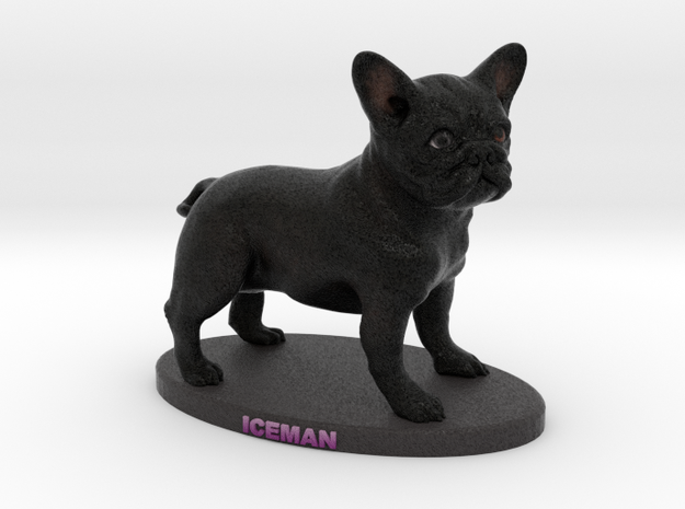 Custom Dog Figurine - Iceman in Full Color Sandstone