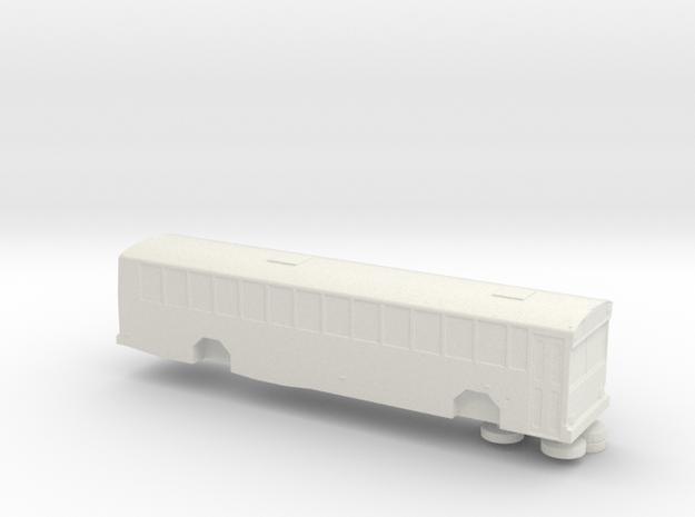 N scale 1:160 Gillig Phantom School Bus in White Natural Versatile Plastic