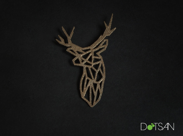 Stag Head Pendant Broach