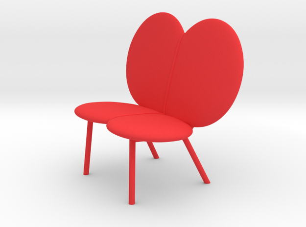 WINGBEAT loveseat by RJW Elsinga 1:10 in Red Processed Versatile Plastic