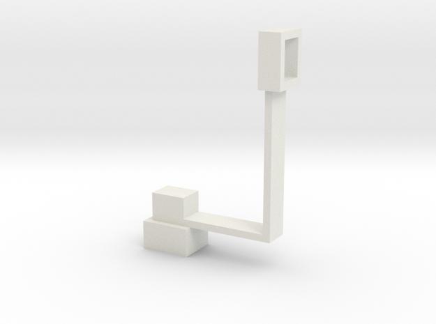 Masterpiece Sideswipe's Canonmount in White Natural Versatile Plastic
