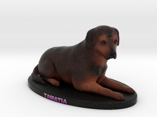 Custom Dog Figurine - Tamatia in Full Color Sandstone