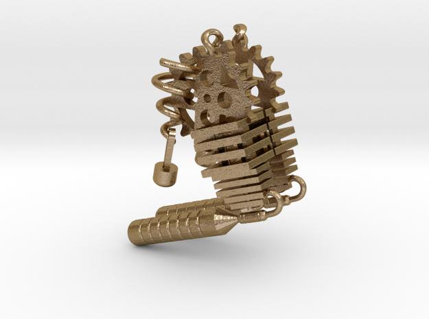 Steampunk Earring Set in Polished Gold Steel