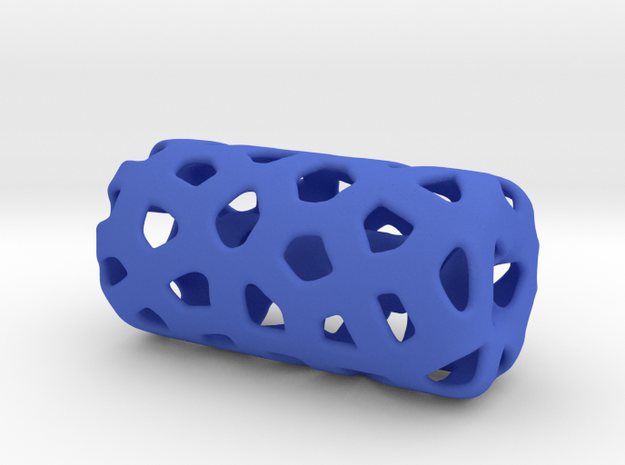 HOLLOW VORONOI Bead For jewelry Making. in Blue Processed Versatile Plastic