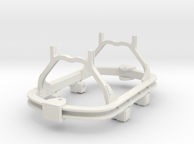 1:35 or Gn15 small skip chassis hudson axlebox in White Natural Versatile Plastic