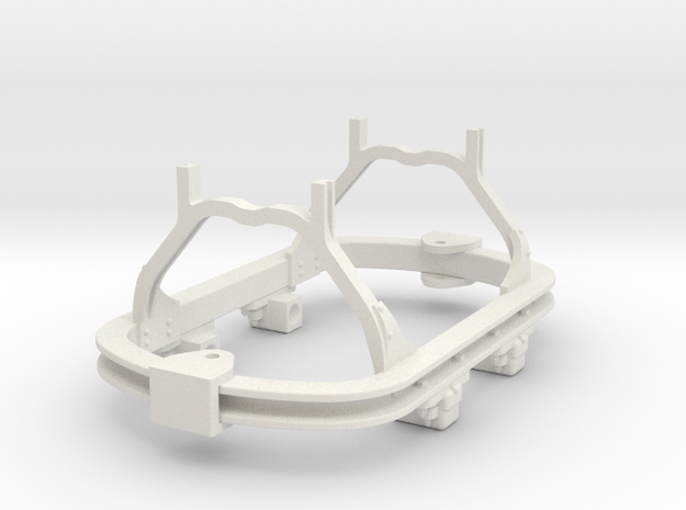 1:35 or Gn15 small skip chassis grease axlebox in White Natural Versatile Plastic