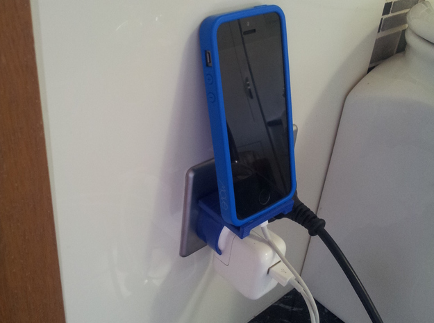Phone Charger Shelf in White Strong & Flexible