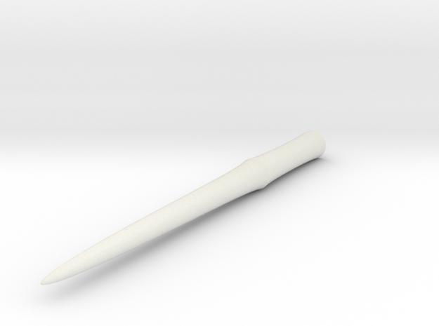 Wand 4 in White Natural Versatile Plastic