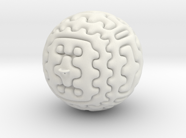 Christmas Tree Ornament #6 Smaller in White Natural Versatile Plastic