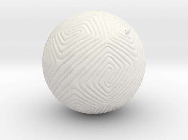 Christmas Tree Ornament #11 Smaller in White Natural Versatile Plastic