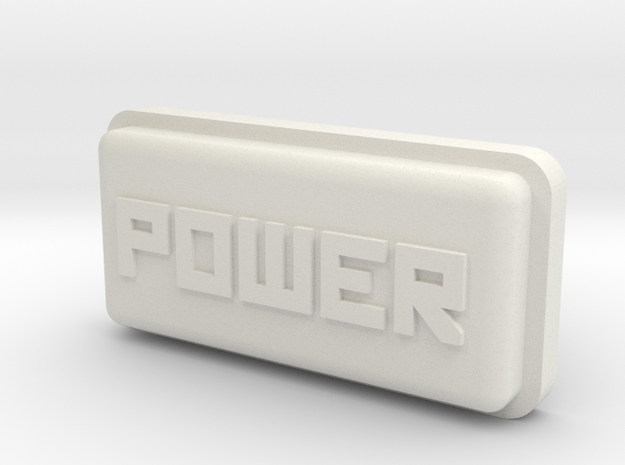 Uzebox Power Button in White Natural Versatile Plastic