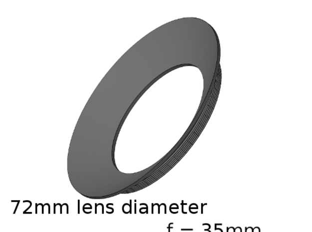 Lieberkühn Reflector 72mm lens diameter, f = 35mm in White Strong & Flexible