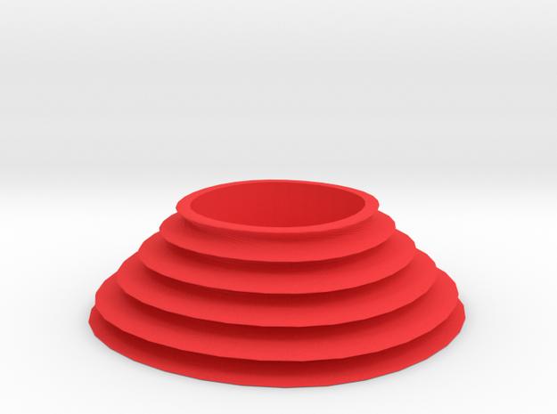 Waterfall tealight in Red Processed Versatile Plastic