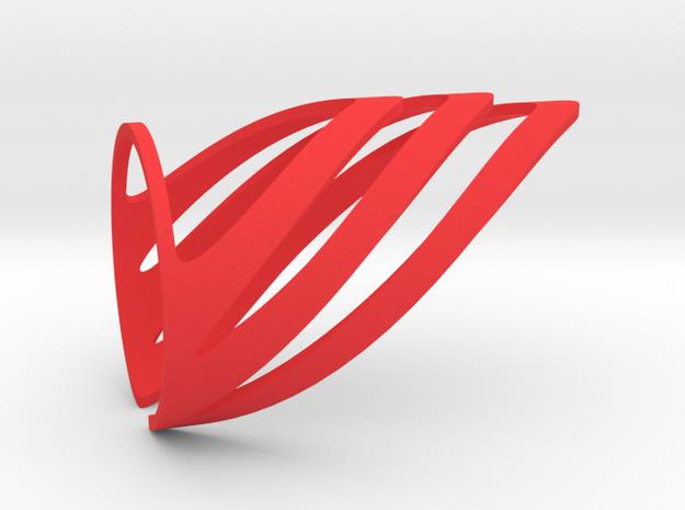 Chevron (Large) in Red Processed Versatile Plastic