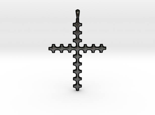 CROSS Cubism Jewelry Pendant in Silver | Gold in Matte Black Steel