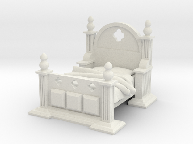 Gothic Bed in White Natural Versatile Plastic