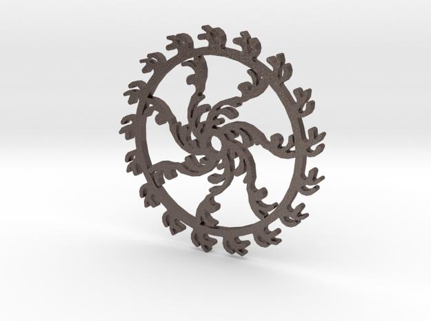 Gear 3-1 in Polished Bronzed Silver Steel