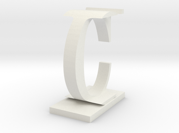 Two way letter / initial C&I in White Natural Versatile Plastic