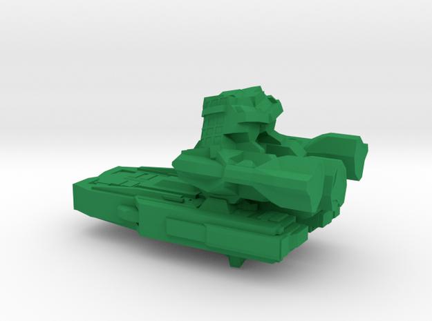 Spaceship Small 4 in Green Processed Versatile Plastic