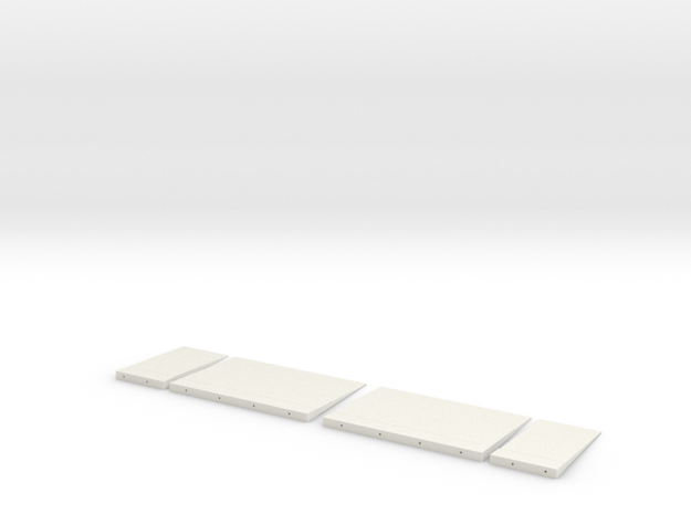 3d Elevator Panels NS in White Natural Versatile Plastic