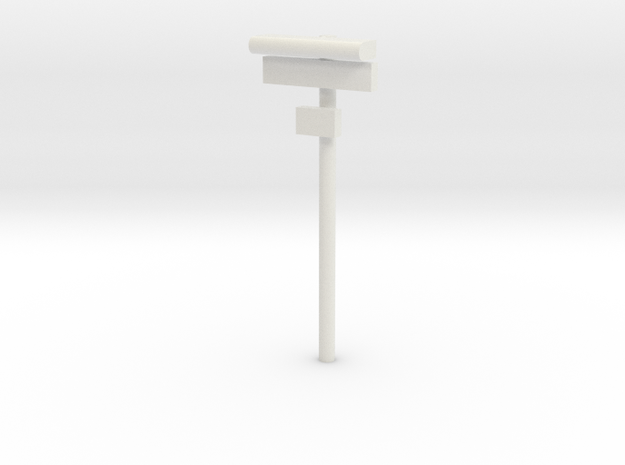 1/160 - DSB Stations lampe med skilt og lille unde in White Natural Versatile Plastic