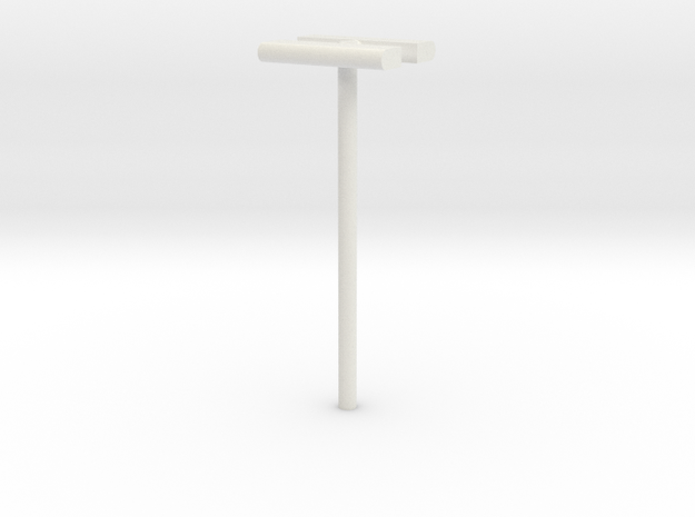 1/160 - DSB Stations lampe (dobbelt) (VIA) in White Natural Versatile Plastic