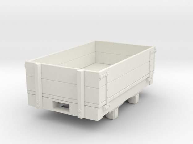 Gn15 small 5ft Dropside wagon in White Natural Versatile Plastic
