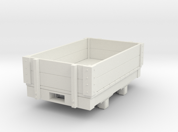 Gn15 small 5ft 2 plank open wagon in White Strong & Flexible